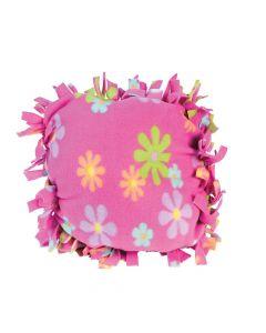 Fleece Flower Tied Pillow Craft Kit