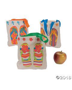 Flip Flop Canvas Tote Bags