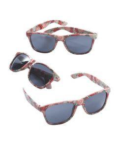 Floral Print Nomad Sunglasses