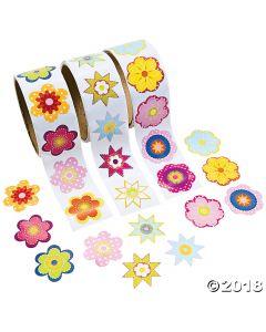 Flower Rolls of Stickers Assortment