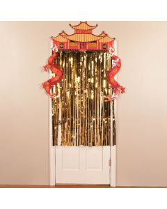 Foil Dragon Door Curtain