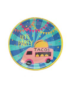 Food Truck Party Paper Dinner Plates