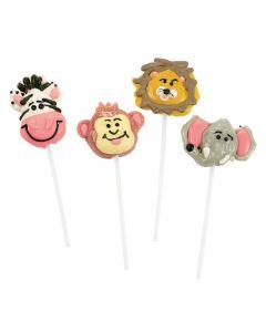 Frosted Jungle Safari Animal Lollipops