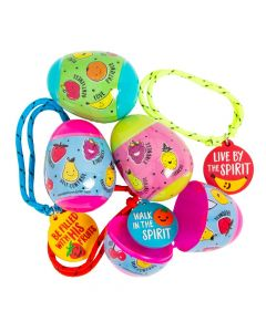 Fruit of the Spirit Rope Bracelet-Filled Plastic Easter Eggs - 24 Pc.