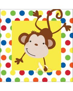 Fun Monkey Lunch Napkin