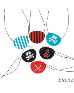 Fun Pattern Pirate Eye Patches