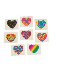Funky Heart Tattoos