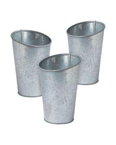 Galvanized Bottle Vases
