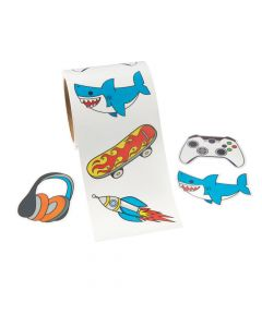 Gamer, Shark and Skateboard Waterproof Stickers