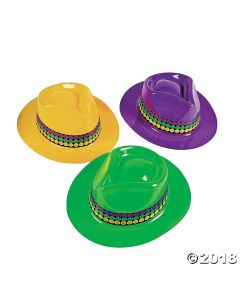 Gangster Mardi Gras Hats Assortment