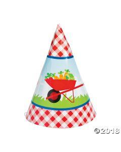 Garden Party Birthday Cone Hats