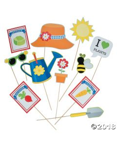 Garden Party Photo Stick Props