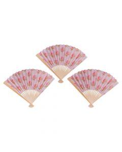 Garden Party Printed Folding Fan