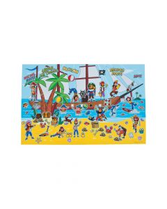 Giant Pirate Ship Sticker Scenes