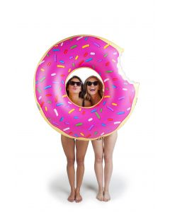 Giant Stawberry Donut Inflatable Pool Float