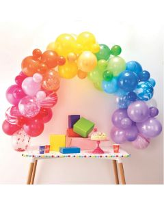 Ginger Ray Bright Rainbow Latex Balloon Arch Kit