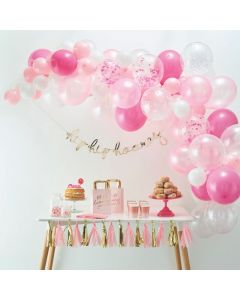 Ginger Ray Pink Latex Balloon Arch Kit