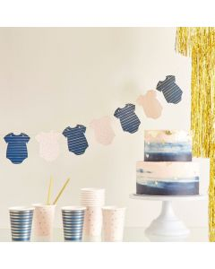 Ginger Ray Pink and Navy Onesie Baby Shower Garland