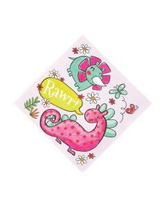 Girl Dinosaur Luncheon Napkins