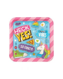 Girl Squad Party Square Paper Dinner Plates