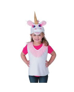 Girl's Unicorn Vest and Hat Costume Set