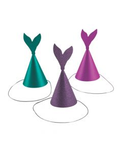 Glitter Mermaid Cone Party Hats