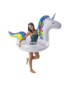 Glitter Unicorn Inflatable Pool Float