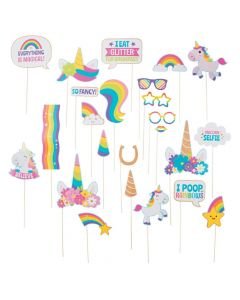 Glitter Unicorn Photo Stick Props