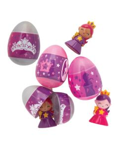 Glitzy Princess Toy-Filled Easter Eggs - 12 Pc.