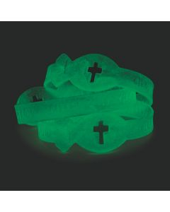 Glow-in-the-Dark Jesus Fish Silicone Bracelets