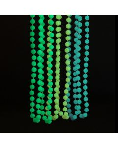 Glow-in-the-Dark Mardi Gras Beaded Necklaces