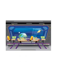 God's Galaxy VBS Spaceship Backdrop