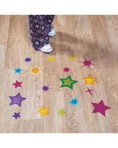 God's Galaxy VBS Star Floor Clings