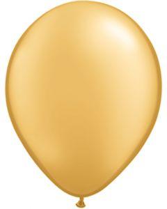 Gold 12cm Plain Round Latex Balloon