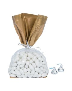 Gold Banded Cellophane Bags
