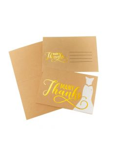 Gold Bridal Shower Thank You Cards
