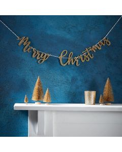 Gold Christmas Merry Christmas Bunting