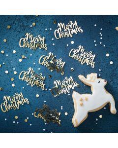 Gold Christmas Script Confetti