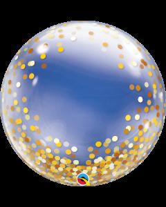 Gold Confetti Dots 60cm Deco Bubble Balloon
