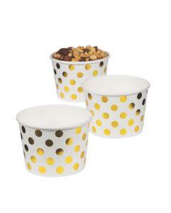 Gold Foil Polka Dot Snack Paper Bowls