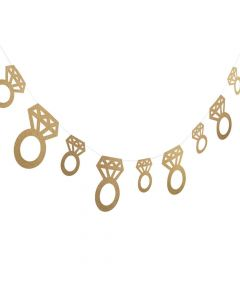 Gold Glitter Diamond Ring Garland