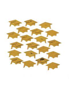 Gold Graduation Cap Confetti
