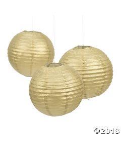 Gold Hanging Paper Lanterns