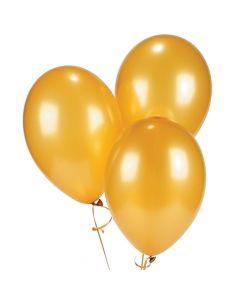 "Gold Metallic 11"" Latex Balloons"