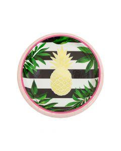 Gold Pineapple Paper Dessert Plates