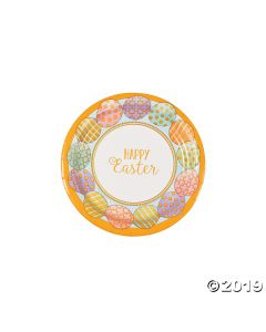 Golden Easter Paper Dessert Plates