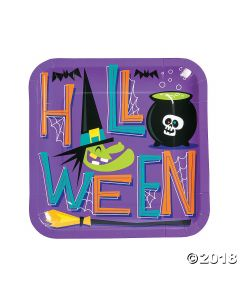 Goofy Ghouls Paper Lunch Plates