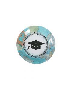 Grad Adventure Paper Dessert Plates