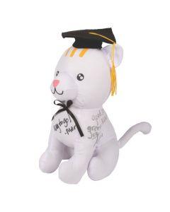 Graduation Autograph Stuffed Cat