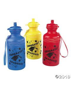 Graduation Sport Plastic Water Bottles